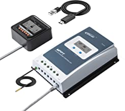 EPEVER MPPT Solar Charge Controller 30A 100V PV 3210AN Negative Ground with MT50 Remote Meter Temperature Sensor PC Communication Adapter