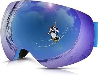 Philonext Gafas de Esquí,Gafas de Nieve de Snowboard Unisex Gafas Esqui Snowboard-Azul