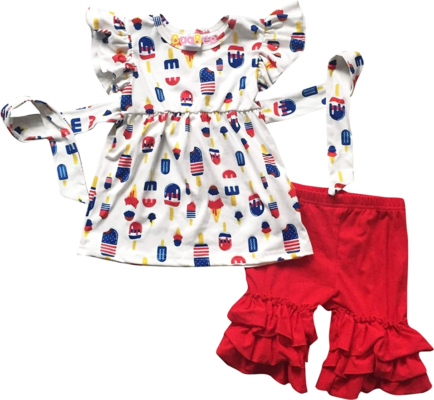 Patriotic  Fourth of July  Red White and Blue  Baby Bodysuit  New Baby Gift  Red and White