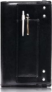 ストレス無く書ける手帳カバー【ジブン手帳専用レザーカバーFLAT(フラット)】 (ブラック, ジブン手帳mini・ジブン手帳Biz mini)