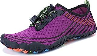 MAYZERO Summer Water Shoes Men Women Quick Drying Swim Surf Beach Pool Shoes Wide Toe Hiking Aqua Shoes