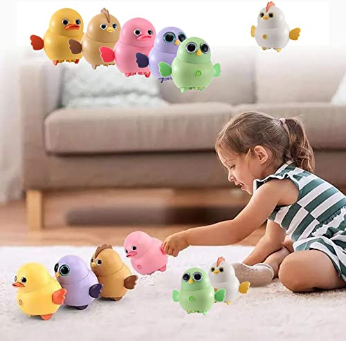 new arrival Electric Chicken Toy, Interactive Toy Walking Swinging Chick for Toddler, Magnetic Electric Boy Toy Chicks Duck Owl Team, Lovely Rocking Animal 2021 Toys Set, Gift for Kids Children, high quality 6PC, from RiamxwR outlet online sale