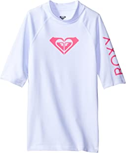 Roxy Kids Whole Hearted Short Sleeve Rashguard (Big Kids)