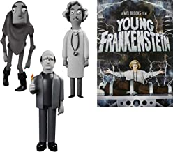 Dr. Frederick Frankenstein & his Monster + Igor Collection Mel Brooks Young Frankenstein DVD Comedy Movie + Collectible idols Character Vinyl Black & White Figures 4 items