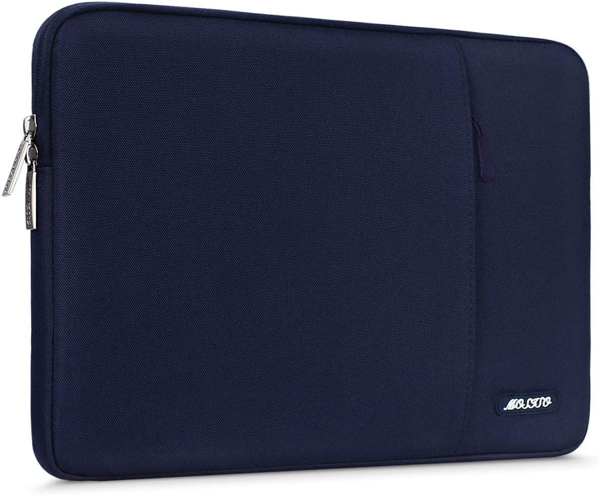 MOSISO Tablet Sleeve Case Compatible with iPad Pro 11 inch (3rd Gen) M1 5G 2021-2018, 2020 10.9 iPad Air 4, 10.2 iPad 8th/7th Gen, 10.5 iPad Air 3, iPad 9.7, Polyester Vertical Pocket Bag, Navy Blue