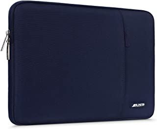 MOSISO Laptop Sleeve Bag Compatible with 13-13.3 inch MacBook Pro, MacBook Air, Notebook Computer, Vertical Style Water Repellent Polyester Protective Case Cover with Pocket, Navy Blue