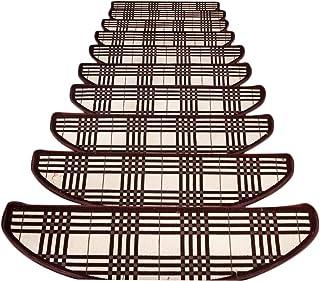 JIAJUAN Stair Carpet Treads Anti Slip Breathable Self-Sticking Stairs Mats Riser Floor Step Rugs, 3 Styles, 4 Sizes, Cust...
