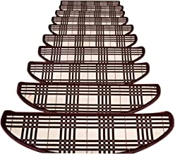 JIAJUAN Stair Carpet Treads Anti Slip Breathable Self-Sticking Stairs Mats Riser Floor  Step Rugs, 3 Styles, 4 Sizes, Cust...