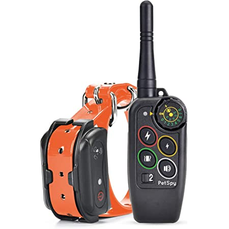 PetSpy M686 Premium Dog Training Shock Collar for Dogs with Vibration, Shock and Beep, Rechargeable and Waterproof E-Collar Remote Trainer