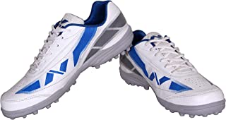 NIVIA - - Step Out & Play 479WB Synthetic Hook-1 Cricket Shoes,(White)