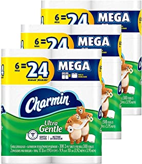 Charmin Ultra Gentle Toilet Paper, 18 Mega Rolls