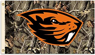 NCAA Oregon State Beavers 3-by-5 Foot Flag with Grommets - Realtree Camo Background