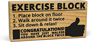 BigMouth Inc Exercise Block - Hilarious Wooden Exercise Tool with Imprinted Instructions Directly on the Block, Makes a Great Gag Gift