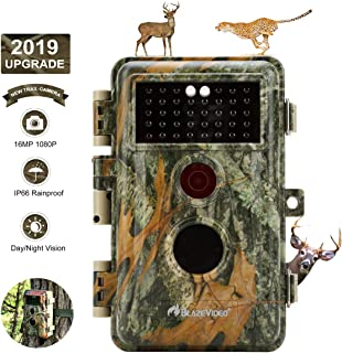 Game Camera & Deer Hunting Trail Cam with Night Vision 16MP 1080P Video No Flash 940nm Infrared Waterproof with Motion Activated Wildlife Tracking & Home Security Time Lapse and Photo & Video Model