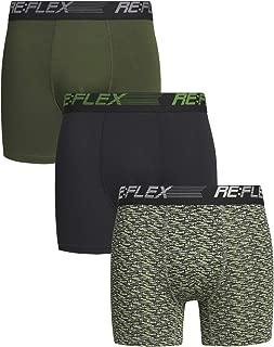 Mens Compression Performance Boxer Briefs Underwear (3 Pack)