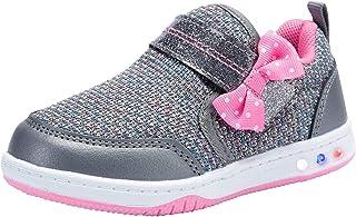 SUREVAN Girls Glitter Shoes Kids Fashion Luminous Flashing Sneakers(Toddler/Little Kid)