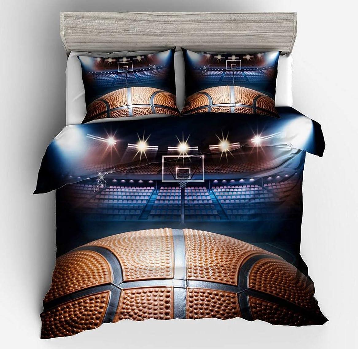 前件散文二度3D バスケットボール十代の若者たちの大人のためのプリント布団カバー寝具セットゴシックスタイルのキルト布団カバー,EUSingle135*200cm/50*75cm*2