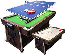 7Ft Green Pool Table Billiard + Air Hockey + Tennis Table + Cover plan for table