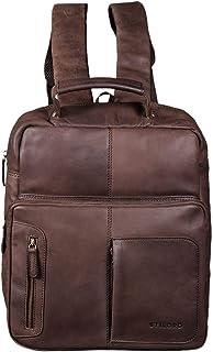 """STILORD Toni"""" Vintage Leder Rucksack groß für Frauen Männer moderner Daypack für DIN A4 Ordner 13.3 Zoll Laptop Rucksackhandtasche für Schule Uni Arbeit"""