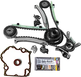 SCITOO TCS46000 Timing Chain Kit Cover Gasket fits for 03-07 Dodge Ram 1500 4.7L SOHC VIN P N