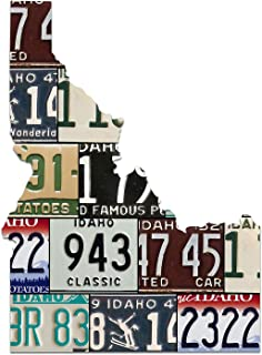 IDAHO License Plate Plasma Cut Map Sign, Famous Potatoes Metal Sign Home Decor Garage Art Great Gift Man Cave Plasma Cut Aluminum UV Printed Rustic Sign Birthday Gift Patriotic Sign Holiday Gift