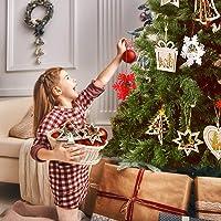 8-Pcs Wooden Christmas Hanging Decorations 3D Laser Cut Ornaments