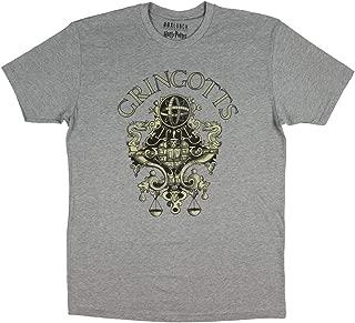 Harry Potter Merchandise Gringotts Wizarding Bank Distressed Logo T-Shirt