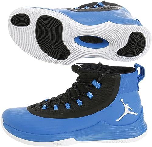 Hauszapatos de baloncesto Nike JR Ultra Fly para hombre   blanco-negro 10