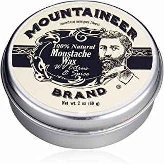 Mustache Wax by Mountaineer Brand (2oz) | All-Natural Beeswax and Plant-Based Oils for Moustache | No Petroleum Chemicals | WV Citrus & Spice