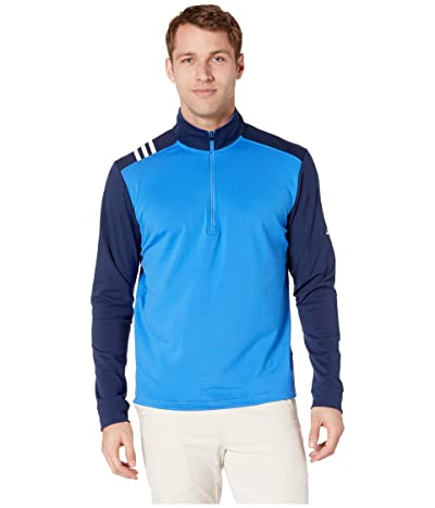 adidas Golf 3-Stripes 1/4 Zip (True Blue/Collegiate Navy) Men