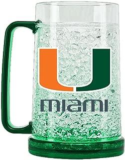 NCAA Miami Hurricanes 16oz Crystal Freezer Mug