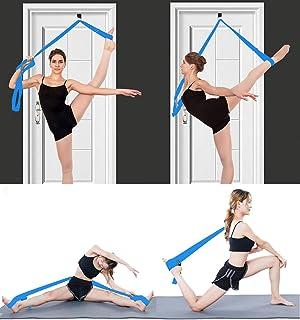 MINGZJ Cinturón de Yoga,Banda de Camilla de Pierna- Instalación fácil en la Puerta - Equipo de Estiramiento de Entrenamiento de Taekwondo de Gimnasia de Baile