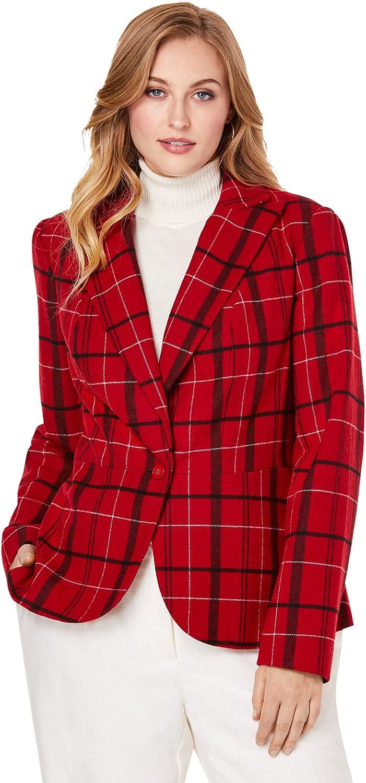新着 Jessica 再入荷 予約販売 London Women's Plus Size Blazer Peplum Wool-Blend Jacket