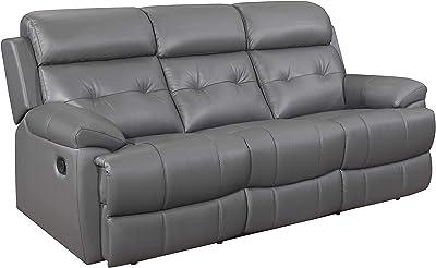 Surprising Amazon Com Delange Reclining Power Sofa With Adjustable Dailytribune Chair Design For Home Dailytribuneorg