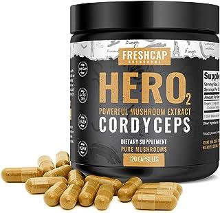 Organic Cordyceps Mushroom Extract Powder Capsules - Immune Booster - Energy, Performance and Endurance - 120 Capsules (60...