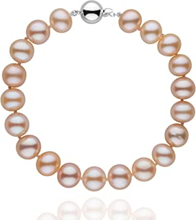 8.5-9.0 mm Pink to Peach Freshwater AA+ Cultured Pearl Bracelet