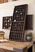 Kalalou Wooden Printers Trays, One Size, Brown (NGN1005)