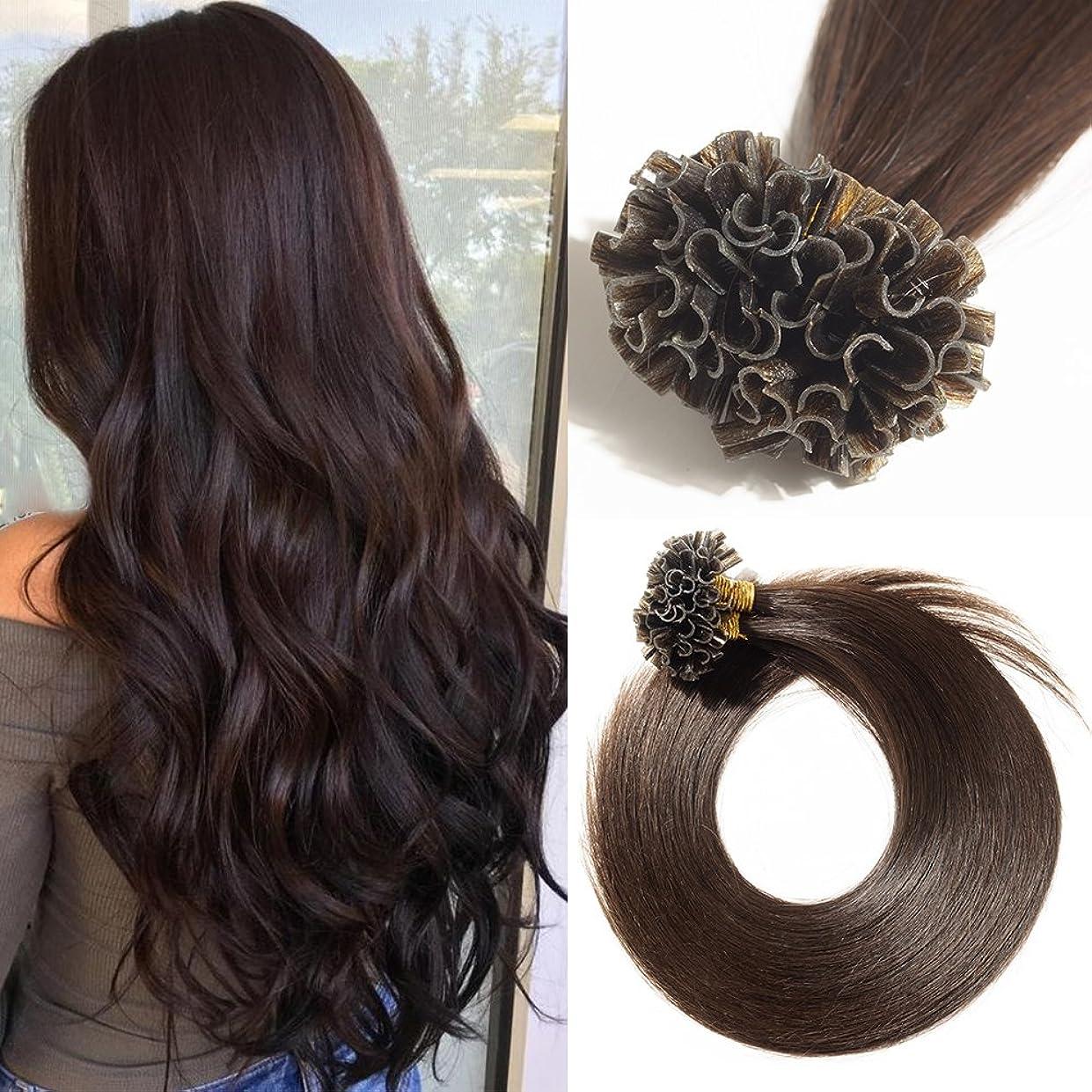 組み立てるクレーン必要条件結束済み人間の髪の毛の拡張子200ストランドUチップネイルチップケラチンレミーストレート(22