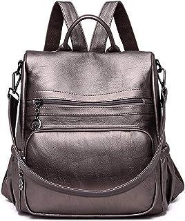 madows backpacks Damen Leder-Rucksäcke für Mädchen, Bronze Bronze - Shoulder-Handbags