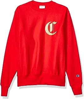 Champion LIFE Men's Reverse Weave Sweatshirt, Team Red Scarlet, Medium