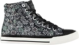 SoulCal Womens Ladies Asti Hi Tops Trainers Sneakers Lace Up Shoes