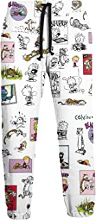 Sadie Mae Calvin and Hobbes Men's Sweatpants Fashion Print Casual Sports Trousers with Pocket