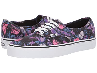 Vans Authentictm ((Warped Floral) Black/True White) Skate Shoes