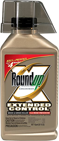 Roundup 5705010 Extended Control Weed And Grass Killer Plus Weed Preventer Concentrate 32 Ounce