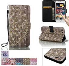 iPhone SE Case,iPhone 5/5S Case, Firefish [Kickstand] [Card/Cash Slots] Flip Cover Impact Dispersion Wallet with Wrist Strap for Apple iPhone 5/5S SE -Golden Flower