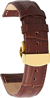 Leather Watch Band Genuine Leather Vintage Replacement Strap Bracelet for Men Women 22mm 20mm 18mm 16mm