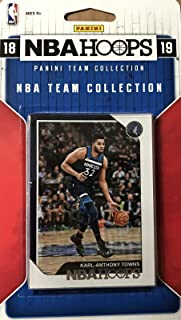 Minnesota Timberwolves 2018 2019 Hoops Basketball Factory Sealed 11 Card NBA Licensed Team Set with Karl-Anthony Towns and Tyus Jones Plus Rookie Cards of Keita Bates Diop and Josh Okogie and More