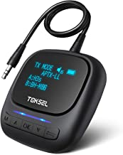 TOKSEL Visible Bluetooth 5.0 Transmitter Receiver for TV PC, 2-in-1 Wireless Bluetooth..