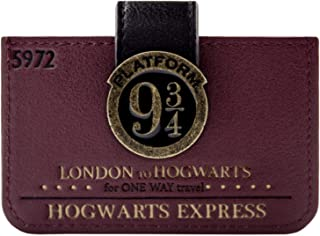 H.P. Poudlard Express London Plate-Forme 9 3/4 Billet Portefeuille Rouge