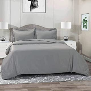 Vailge 3-Piece 120gsm Microfiber Duvet Cover Set,Ultra Soft Double Brushed MicrofiberHotel Collection Bedding,Durable and...